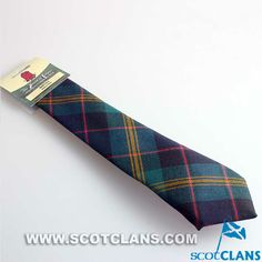 Clan Watson Ancient Tartan 'Old and Rare' Collection Wool Tie