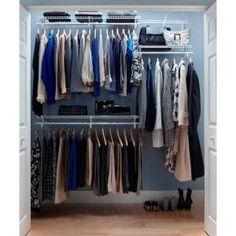 ClosetMaid, ShelfTrack 5 ft.- 6 ft. Closet Organizer Kit, 2873 at The Home Depot - Mobile