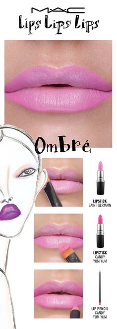 Now vibing on: The Lolita Ombre. Because two-toned is twice as nice! Try a lip trend, then make it your own! Your choice. Your creation. Your trend.  Created by Senior Artist Chantel Miller.