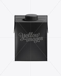 Tetra Brik Aseptic Edge with LightCap 30 - 500 ml Black Mockup. Download on website.