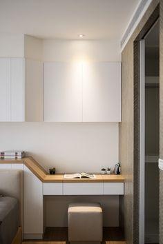 Study Table Design for Bedroom Inspirational Yan Design Fu Yu On Behance Home Office Design, Home Office Decor, Modern House Design, Home Decor, Office Table Design, Trendy Bedroom, Modern Bedroom, Girls Bedroom, Master Bedroom