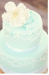 Tiffany blue wedding cake