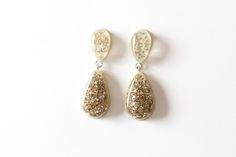 Dangle Earrings - Confetti Lucite - Jade green · Flirty Foxx Designs · Online Store Powered by Storenvy