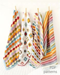 Bundle of Four Baby Blanket Patterns Bertie by LittleDoolally