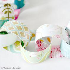 Bird printed paper chains tutorial by Torie Jayne