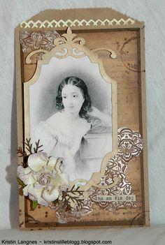 Kristins lille blogg: Vintagepreget posekort