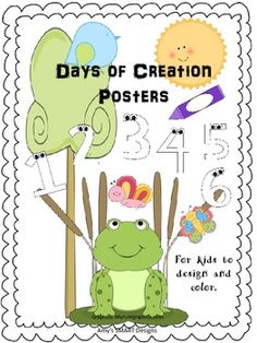 Christian Classroom: Days of Creation Posters Beginning Of The School Year, Back To School, Christian Classroom, Days Of Creation, Unit Plan, Teaching Resources, Teaching Ideas, Interactive Notebooks, Task Cards
