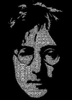 John Lennon Word Portrait