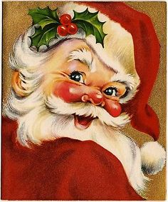 Vintage Santa Christmas card.