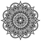Mehndi, indische Henna Tätowierung Muster oder Hintergrund — Stockvektor