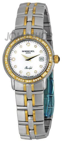 Raymond Weil Women`s 9440-STS-97081 Parsifal Two-Tone Mother-Of-Pearl Diamond Dial Watch $1,075.00 (save $2,220.00)