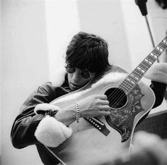Gered Mankowitz: The Rolling Stones, Keith with guitar