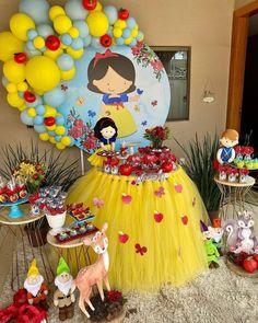 Armature Sculpture, Machine Applique, Diy Paper, Decoration, Ideas Para, Snow White, Balloons, Birthday Cake, Baby Shower