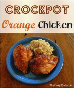 Crockpot Orange Chicken Recipe from TheFrugalGirls.com