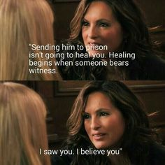 Olivia being the amazing person she is! <3 Law and Order: SVU, Season 13