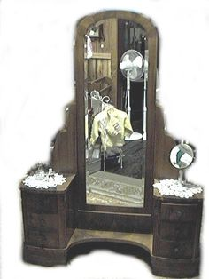 French Art Deco Dressing Table Vanity