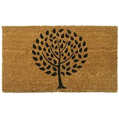"Amazing Rubber-Cal ""Modern Landscape"" Contemporary Doormat"