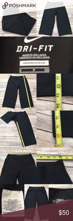 🍭Size Small Nike Cropped Black Capri Yoga Pants Measurements are in photos. NEVER WORN, no flaws. E2  I do not comment to my buyers after purchases, do to their privacy. If you would like any reassurance after your purchase that I did receive your order, please feel free to comment on the listing and I will promptly respond. I ship everyday and I always package safely. Thanks! Nike Pants Track Pants & Joggers