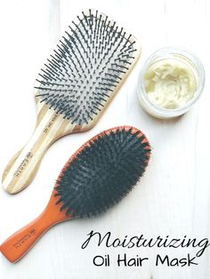 "Moisturizing Oil Hair Mask: Leave-in conditioners aren't doing your hair justice. They should be called leave-in-the-store-condtioners ;) because they are coating your hair with chemicals to make hair ""appear"" shiny and healthy while just covering up the damage. Try a Moisturizing Hair Mask instead!"