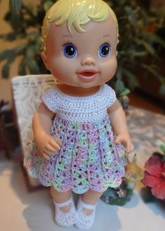 Crochet clothes 12 13 inch Baby Alive by dollcrochetboutique