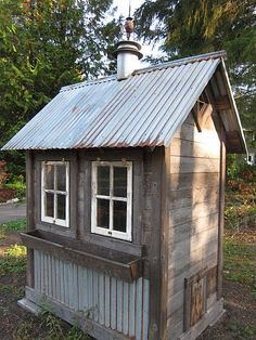 Would use a single antique window.  Storage underneath.  Two nesting beds.  Full door for outdoor run.  Full side opens for easy access and cleaning.  Divider for new chickens.