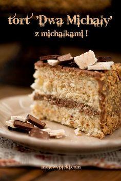 Michalki Chocolate Cake with nuts (uses Michalki white and Michalki dark chocolate)