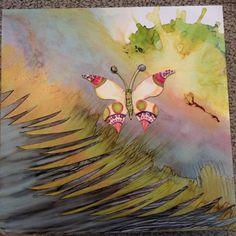Work in progress. Ranger Ink, Red Deer, Keys, Original Art, Alcohol, Collage, Watercolor, Creative, Artist