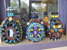 Whiskey bottles by Poppins Mosaics and Crafts, via Flickr