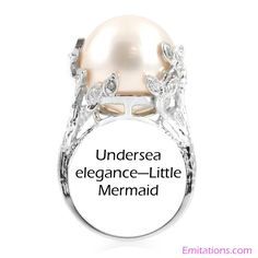 I Love The Pearl In This One Wedding Ring 2 3 Little Mermaid