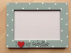 Personalised wooden photo frame GODMOTHER. by Untutoredtillycat, £7.99