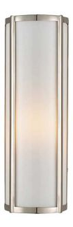 """BASIL SMALL LINEAR SCONCE- 16""""L x 5 1/2"""" polished nickel or gun metal only $630"""