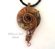Wire wrapped pendant / Wire Wrapped jewelry by PillarOfSaltStudio ...