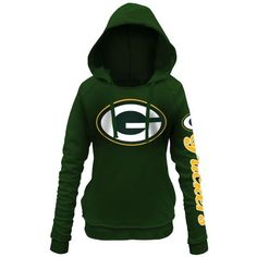 Women's Green Bay Packers 5th and Ocean by New Era Green Snap Count Pullover Hoodie - NFLShop.com