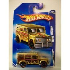 Hot Wheels 2009-110 HW City Works #4 GOLD Armored Truck 1:64 Scale