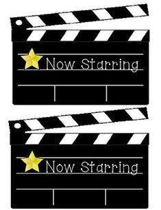 I have added a larger version of my original bulletin board clapboards. Hollywood Theme Classroom, Classroom Themes, School Classroom, School Displays, Library Displays, Library Themes, Back To School Bulletin Boards, Star Students, Teacher Boards