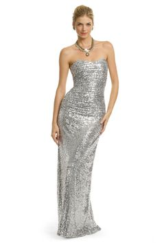 Sequin Stardust Gown...so gorgeous.  From rent the runway...you can rent a designer gown. This is a Badgley Mischka and you can get it for $125
