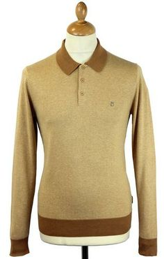Hemmingford Peter Werth Mod Knit Polo Top in vintage sand. A clean, sharp and casual Retro look. http://www.atomretro.com/product_info.cfm?product_id=12907 #peterwerth #hemmingford #polo #mod