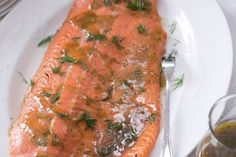 Pečený marinovaný losos | Apetitonline.cz Trout, Salmon, Seafood, Food And Drink, Turkey, Fish, Homemade, Chicken, Cooking