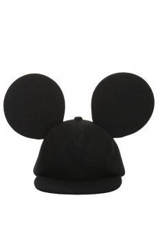 Comme Des Garcons Homme Plus | Wool Baseball Cap with Mickey Ears Black
