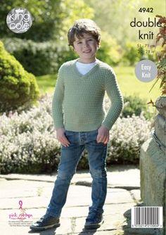 Sweater & Slipover in King Cole Luxury Merino DK - 4942