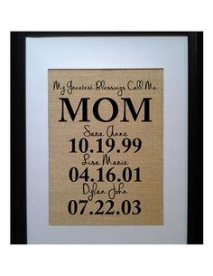 Christmas Gift for Mom Personalized Gift for MOM by BeanTownBurlap