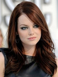 Emma Stone gorgeous hair color