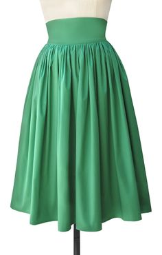 new brights! Trashy Diva Gathered Skirt skt4931-greenpoplin