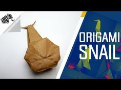 Origami - How To Make An Origami Snail - YouTube