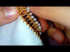 incili tığ oyası yapılışı - YouTube