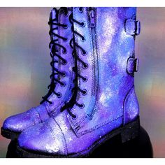 Galaxy Shoes Nebula Space Boots Women's Shoes Galaxy Print Combat... ($80) ❤ liked on Polyvore featuring shoes, boots, ankle booties, grey, women's shoes, galaxy boots, grey boots, army combat boots, military style combat boots and gray booties