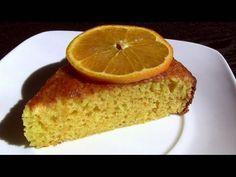 Bizcocho de naranja - 1 naranja de zumo- 70 ml. de aceite de girasol - 170 gr. de harina de repostería - 250 gr. de azúcar - 3 huevos - 1 sobre de levadura de repostería (levadura química, polvo de hornear o impulsor)