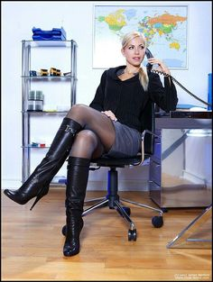 The Ultimate Taboo Nylons Heels, Office Looks, Sexy Boots, Girls Wear, Knee High Boots, Leather Boots, Lady, Womens Fashion, Model