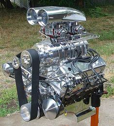 468 Blown Street Beast- 468 Blown Street Beast This big, beautiful blown and nitrous injected beast is going into a street driven Caddy Hearse. Art Steampunk, Chevy Motors, Automobile, Crate Engines, Truck Engine, Performance Engines, Us Cars, Drag Cars, American Muscle Cars