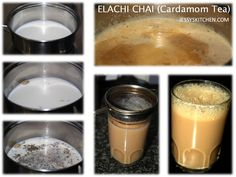 Elachi Chai or Cardamom Tea Tea flavored tea always reminds me of the cutting chai ( half cup tea )that you get at the roadside tea stalls in India.